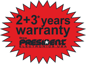 2 + 3 years warranty