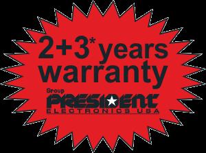 2 + 3 years warranty