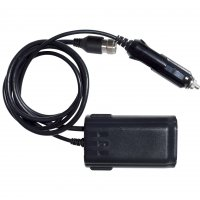Adapter with CB antenna and cigarette lighter plug