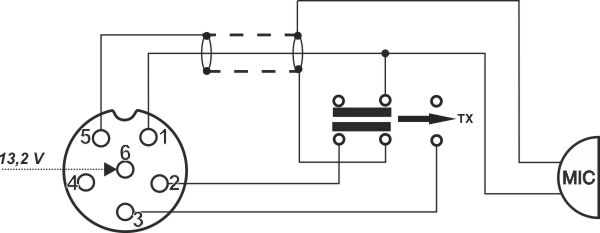 dnc 520    6 pins - micro wiring plug