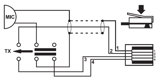 4 pin rj11 male connector diagram
