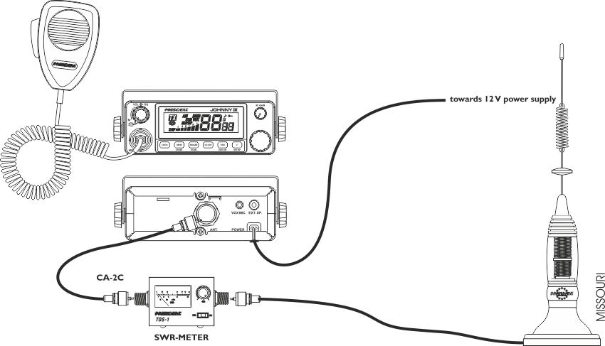 Groupe President Electronics, Cb Radio Wiring Diagram